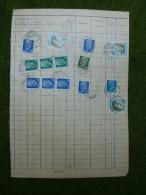 A2680) DDR 4 Seiten Aus Nachweisbuch Für Postmietbehälter Von Erfurt 1975 - DDR