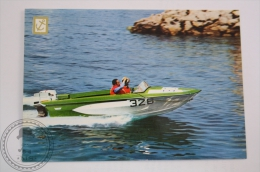 Boat Postcard - Speed Boat Glastrom, Two Engines Evinrude, 120 HP - Barche