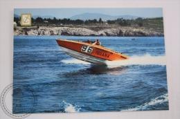 Boat Postcard - Speed Boat Cigarette 36, Builded By Cantieri Firebird Race Team De Viareggo, Mercruiser V8 Engines - Bateaux