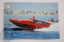 Boat Postcard - Speed Boat Abbate, Italy  - 2 Engines Volvo Penta AQ 200 A, 200 H.P. Each One - Bateaux