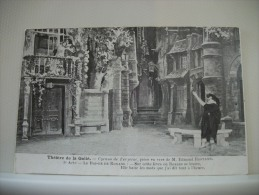 THEATRE DE LA GAITE - CYRANO DE BERGERAC, PIECE EN VERS DE M. EDMOND ROSTAND. 3e ACTE - LE BAISER DE ROXANE: ...SUR... - Théâtre