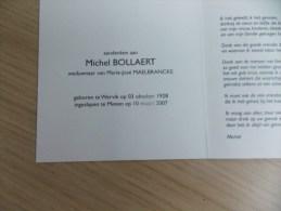Doodsprentje Michel Boelaert Wervik 3/10/1928 Menen 10/3/2007 ( Marie José Maelbrancke ) - Religion &  Esoterik