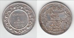 **** TUNISIE - TUNISIA - 1 FRANC 1917 A - SILVER - ARGENT **** EN ACHAT IMMEDIAT !!! - Tunisie