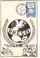 FRANCE No 771, UNESCO, Carte Maximum 12-46 - France