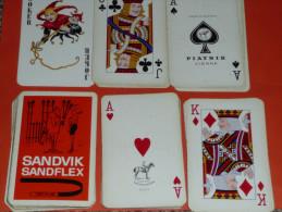 Rare jeu de cartes Publicitaire Sandvik Sandflex outillage scie m�taux, dessin humour, joker