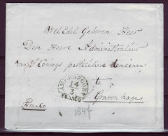 NEDERLAND==a693==COLL ECTION  1840 Brief/omslag Met Blauw Halfrond,schaars,see Scan,see More Collections,all 1 Euro - Timbres