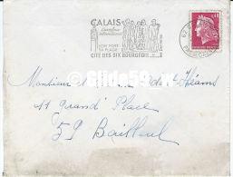 Enveloppe Timbrée De 1969 Avec Flamme De CALAIS - Cité Des Six Bourgeois - Annullamenti Meccanici (pubblicitari)