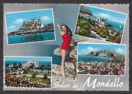 31137/ MONDELLO, Saluti Da, Pin Up, 2 Scans - Palermo