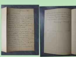Clair-Ed COTTINET, Poète, Fondateur Des COLONIES De VACANCES, Let Autographe 1880 (Vercingétorix), Ref 327 - Autographes