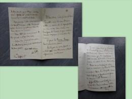 Adolphe CORTHEY, Lettre Autographe Sur La Russie Rouge, Vers 1880 ? Ref 326 - Autographes
