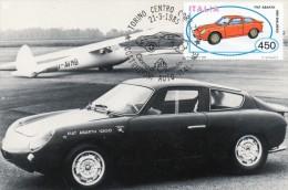 (P)  Fiat  Abarth 1000 Blalbero   Avec Timbre  1er Jour - PKW