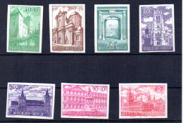 1962  Culturelle, Architecture, 1205 / 1211** N D, Cote 105 € - Imperforates