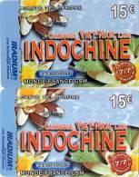 CARTES PREPAYEES ETHNIQUES ASIE  IRADIUM 15e  Indochine Cambodge Laos ( Lot De 2) 2421 - Prepaid Cards: Other