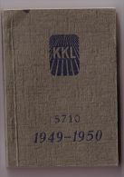 Keren Kayemeth Leisrael,Taschencalender 1949-50, Carte Géographique D´Israël,Agenda Sioniste De 160 Pages - Judaïsme