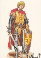 Carte Postale HUESCAR José De Gaston Fébus Et Le Prince Noir Loubatières - Cartes Postales