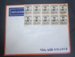 Lettre Via Air France Indochine Ex Colonies Françaises - Indochine (1889-1945)