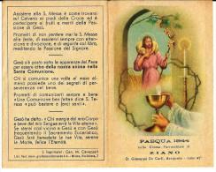COMUNIONE PASQUALE - ZIANO - CHIESA PARROCCHIALE -  ANNO: 1944 - A - Religione & Esoterismo