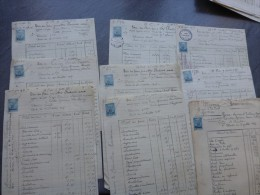 Poitiers Lot De 8 Documents Procès 1925, état Des Frais, Timbre Fiscal, Ref320 - Documentos Históricos