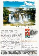 Iguacu Falls, Brazil Brasil Postcard Posted 2007 Stamp - Brazil