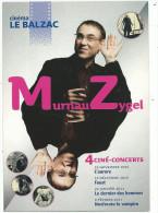 Carte Com, Cinéma  Le Balzac, 4 Ciné -concerts, Murmeau Zyguel , Année 2010 - Cinema