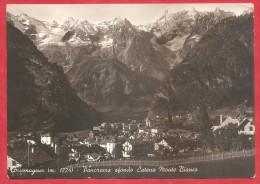 CARTOLINA VG ITALIA - COURMAYEUR (AO) - Panorama Sfondo Catena Monte Bianco - 10 X 15 - ANNULLO 1956 - Italia