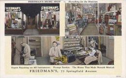 New Jersey Newark Friedmans Music Shop Curteich