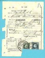 215+216 Op PROTET DE NON PAYEMENT D´EFFET, Stempel LA CROYERE,zegels Werden Zoals Het Regelement Voorschrijft Afgesneden - 1921-1925 Petit Montenez