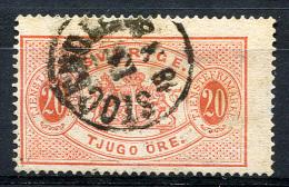 SWEDEN 1874 Perf.14 - Mi.7A (Yv.7B, Sc.O7) Used Small Thins (F-VF) - Servizio