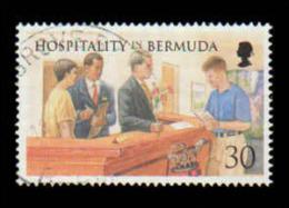 Bermuda Scott # 759, 30¢ Multicolored (1998) Golfer At Regristration Desk, Used - Bermuda