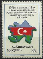 AZERBAIJAN - 1992 Map And Flag. Scott 350. MNH ** - Azerbaïjan
