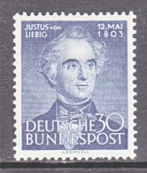 GERMANY  695  *  CHEMISTRY - Unused Stamps