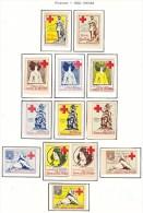 FRANCE  RED CROSS  VIGNETTES  * - Commemorative Labels