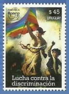 uru1346 Uruguay 2013 Upaep Fight against discrimination Printing 1v