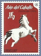 uru1401 Uruguay 2014 Year of the horse 1v