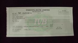 Vietnam Viet Nam Unused Check Cheque Of Indovina Bank - Monnaies & Billets