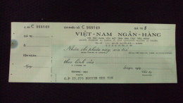 South Vietnam Unused Check Cheque Of Viet Nam Ngan Hang - Monnaies & Billets