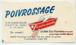 Buvard  Marque  POIVROSSAGE  52,av.  Edouard - Vaillant  PANTIN  ( SEINE )  Le  Poivre  Véritable - Papel Secante