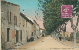 84 AVIGNON / Boulevard Jules-Ferry / CARTE COULEUR - Avignon