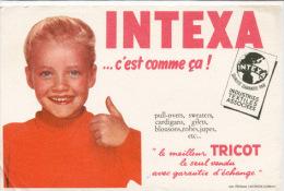Buvard  Marque  INTEXA...ç'est  Comme  ça !  Industries  Textiles  Associèes - Buvards, Protège-cahiers Illustrés