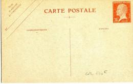 ENTIER POSTAL TYPE PASTEUR Carte Postale 75 Cts Rouge Ref G1 1926 Neuve TTB Cote 170 Euros - Entiers Postaux