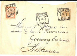 LAC5 - INDES NEERLANDAISES FRONT D'ENTIER POSTAL (ENVELOPPE)  AU DEPART DE BLITAF 10/2/1907 - Netherlands Indies