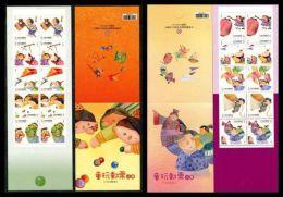 Taiwan 2013 & 2014 Children Play Booklet Toy Lantern Plane Pinwheel Top Puppet Drama Horse Helicopter Kite Lion Dance - Cuadernillos/libretas