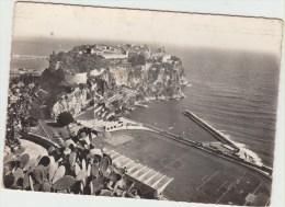 Cpsm  Monaco  Le Rocher Et Le Stade Louis II Vus Du Jardin Exotique Vue Aerienne - Monaco