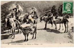 Types Corses - Le Retour Au Village (chèvre, âne) - Autres Communes