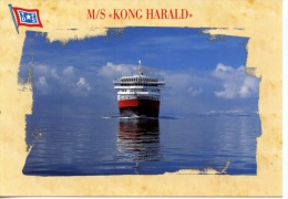 Paquebot M/S KONG HARALD  Selskap Company TFDS - Dampfer