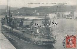 PORT-VENDRES - N° 356 - TORPILLEUR A QUAI - Warships