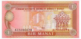 TURKMENISTAN 1 MANAT ND(1993) Pick 1 Unc - Turkmenistan