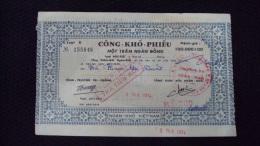 South Vietnam Viet Nam National Bond 100000 D - Coins & Banknotes