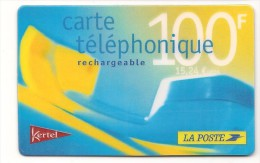 Carte Prépayée KERTEL La Poste Rechargeable 100F/ 15,24 Euros - Altre Schede Prepagate