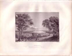 1851 - Gravure Sur Acier - Bordeaux (Gironde) - Vue Prise Au Dessus De Bacalan - FRANCO DE PORT - Prints & Engravings